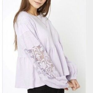 Free People Penny Lilac Top NWT